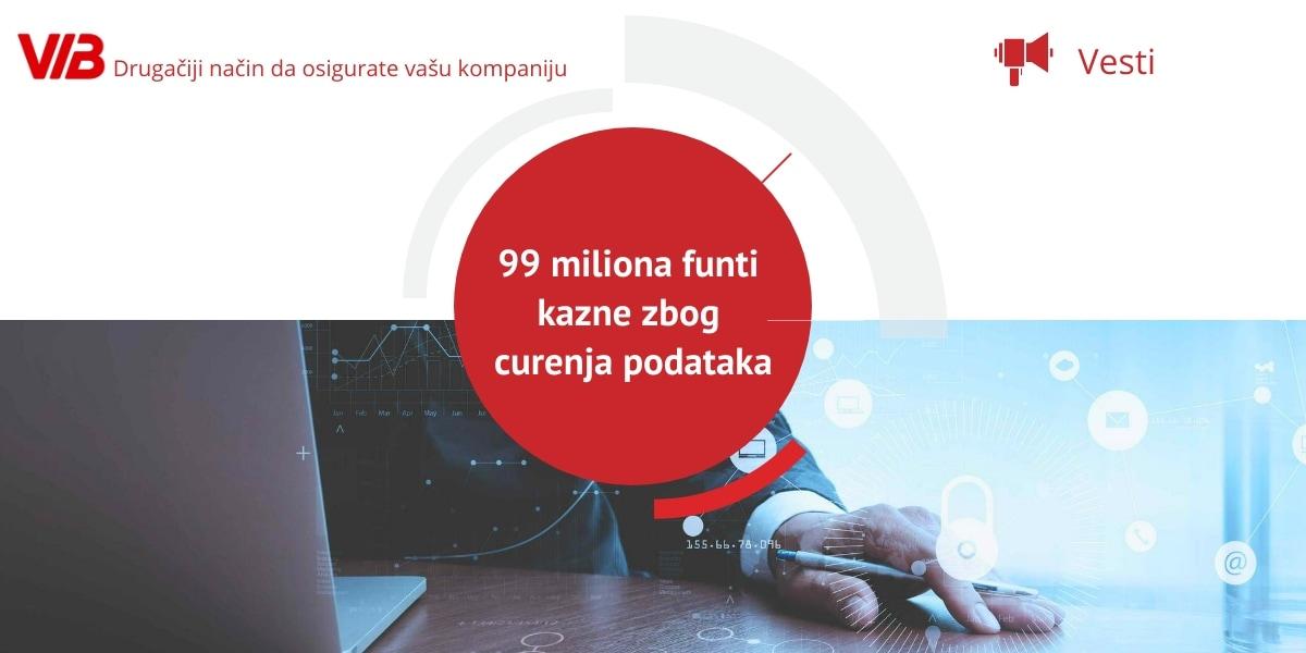 99 Miliona Funti Kazne Zbog Curenja Podataka